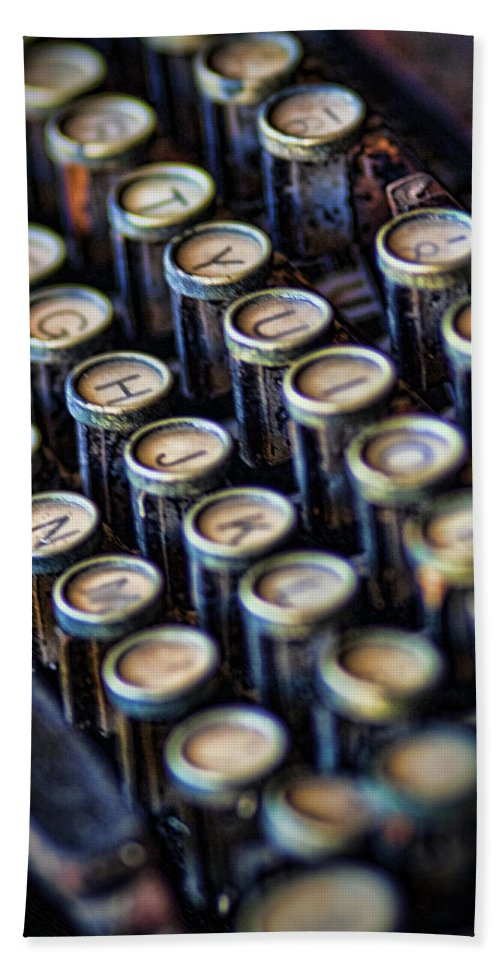 Antique Hand Towel featuring the photograph Typewriter Keys by David and Carol Kelly