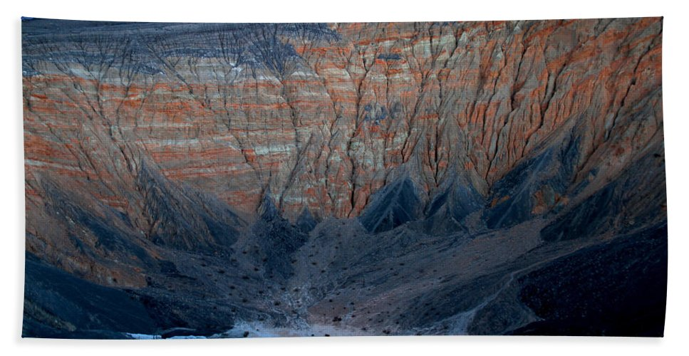 California Bath Sheet featuring the photograph Ubehebe Crater Twilight Death Valley National Park by Ed Riche