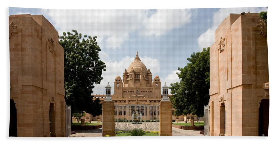Architecture Bath Sheet featuring the photograph Umaid Bhawan Palace, India by David Davis