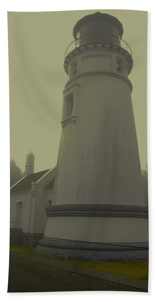 Bath Sheet featuring the photograph Umpqua Lighthouse 2 by Cathy Anderson