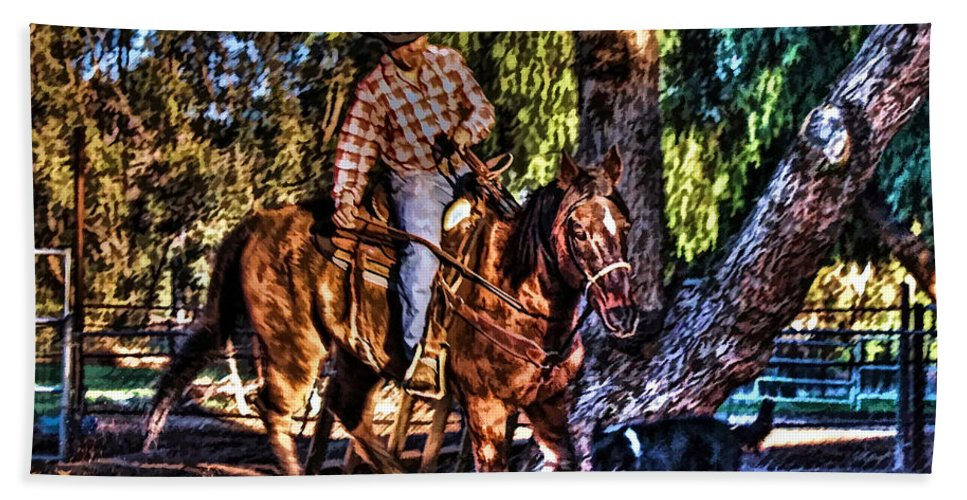 Horse Hand Towel featuring the photograph Unbridled by Tommy Anderson