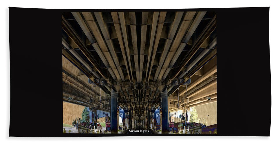 Freeway Hand Towel featuring the photograph Under Pass Transition  by Sirron Kyles