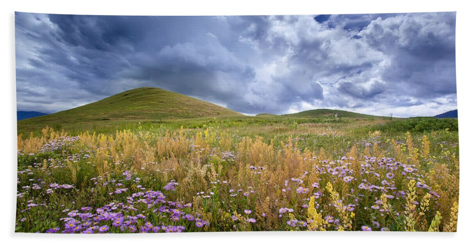 Montana Bath Sheet featuring the photograph Under The Big Sky by Jack Bell