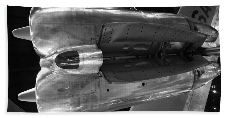 Under The Jet Engine Hand Towel featuring the photograph Under The Jet Engine by Dan Sproul