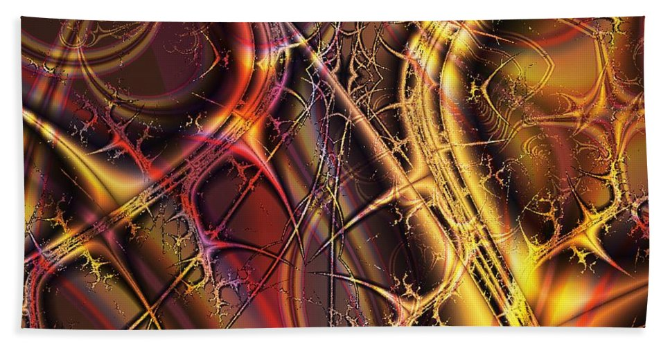 Malakhova Hand Towel featuring the digital art Under The Surface by Anastasiya Malakhova