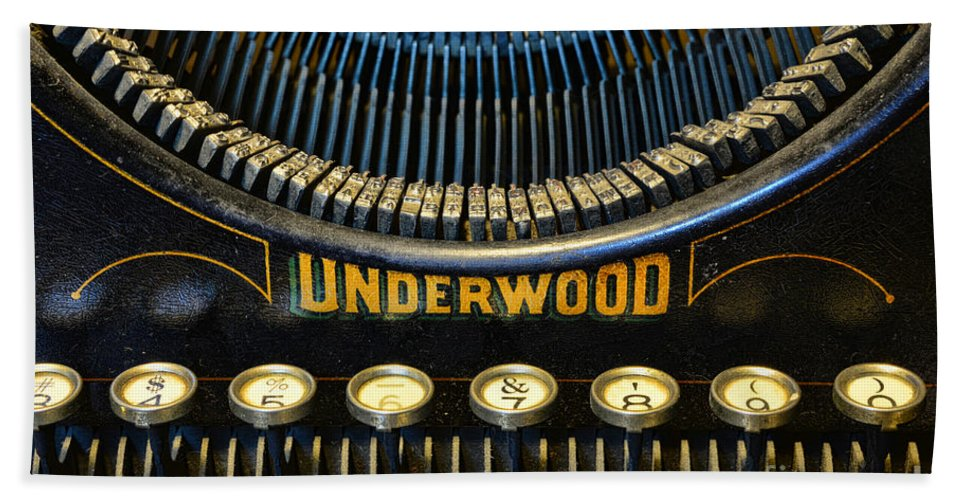 Paul Ward Hand Towel featuring the photograph Underwood Typewriter by Paul Ward