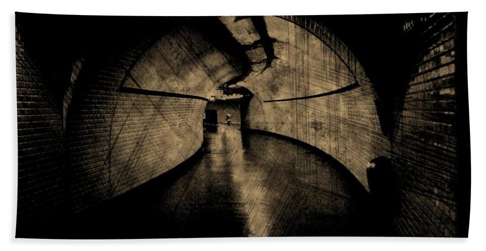 Subway Hand Towel featuring the photograph Underworld by John Malone