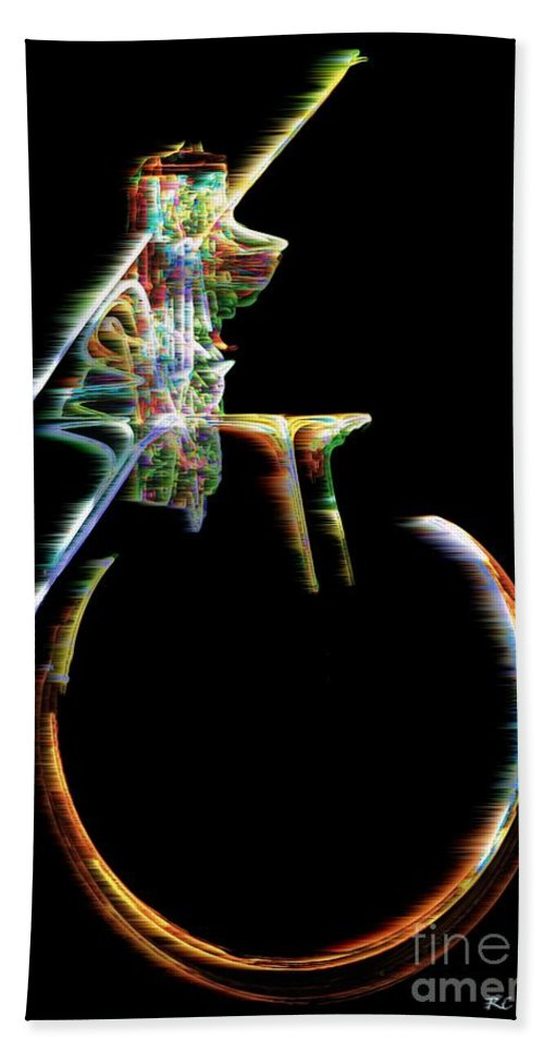 Unicycle Hand Towel featuring the digital art Unicyclone by RC DeWinter