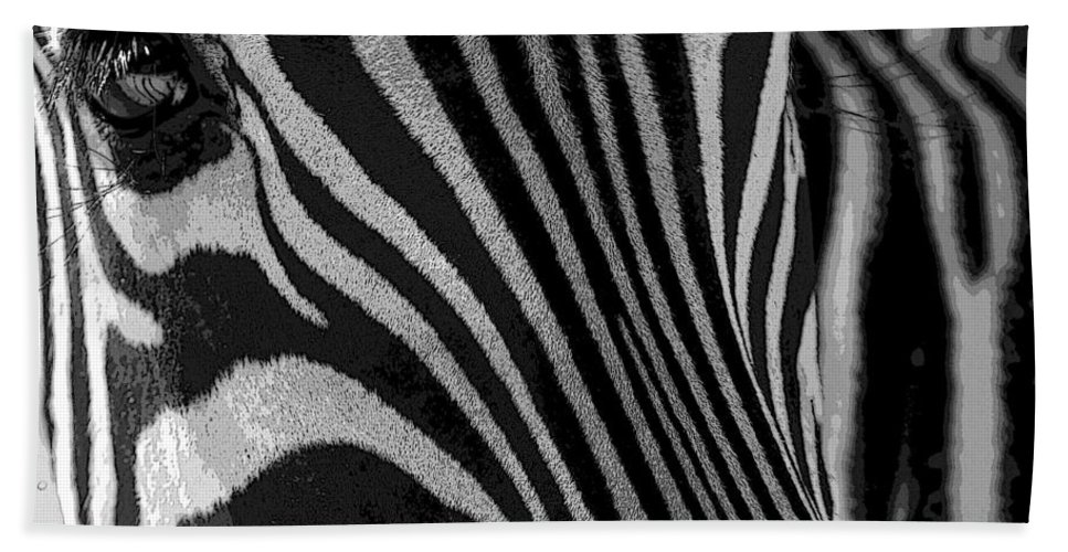 Zebra Hand Towel featuring the photograph Untilted by Robert Meanor
