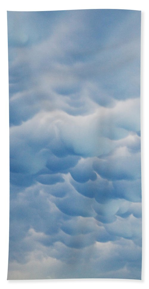 Blue Hand Towel featuring the photograph Unusual Cloud Formation by David and Carol Kelly
