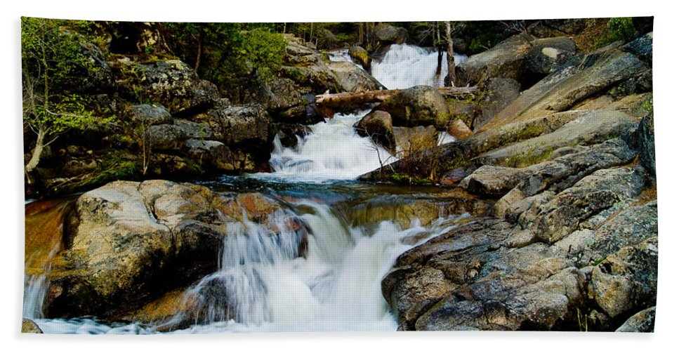 Cascade Creek Bath Sheet featuring the photograph Up The Creek by Bill Gallagher