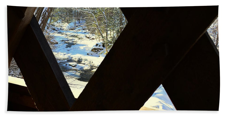 Gunstock River Hand Towel featuring the photograph Up The River by Mim White