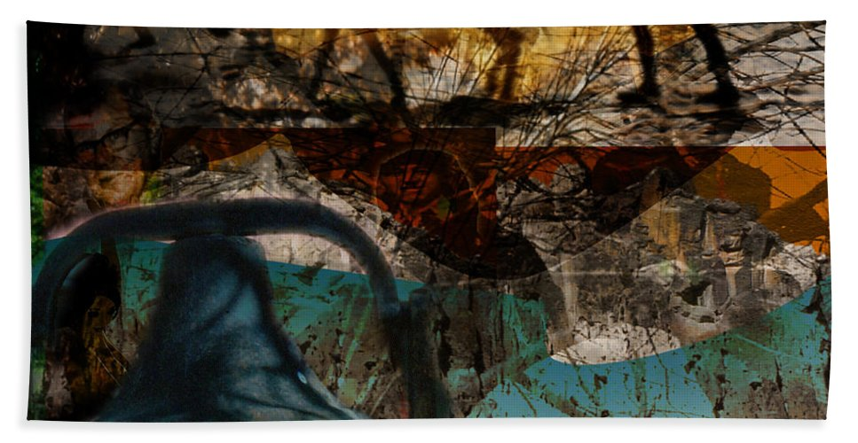 Hand Towel featuring the digital art Up With The Sun by Cathy Anderson