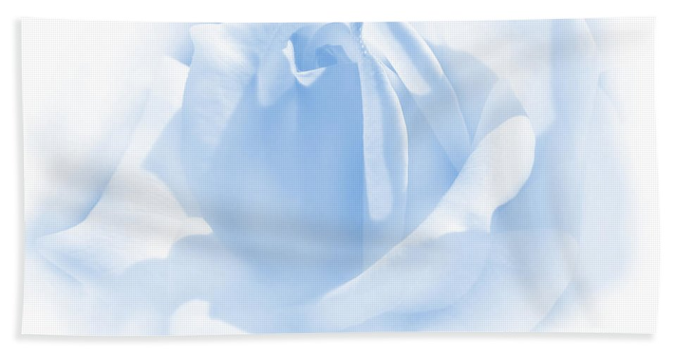 Rose Bath Sheet featuring the photograph Upon A Cloud Blue Rose Flower by Jennie Marie Schell