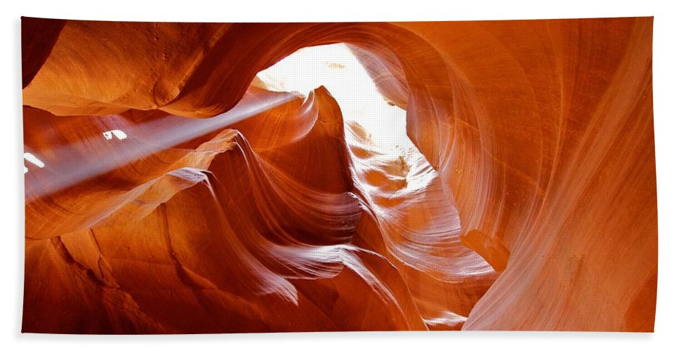 Page Hand Towel featuring the photograph Upper Antelope Canyon 1 by David Beebe