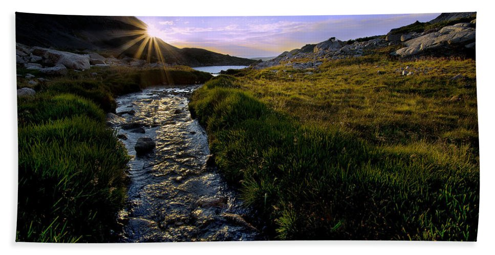 Nature Bath Sheet featuring the photograph Upper Blue Sunrise by Steven Reed