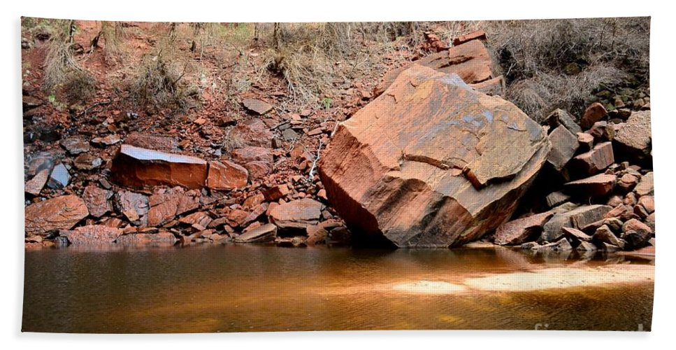 Upper Emerald Pools Bath Sheet featuring the photograph Upper Emerald Pools At Zion National Park by Rincon Road Photography By Ben Petersen