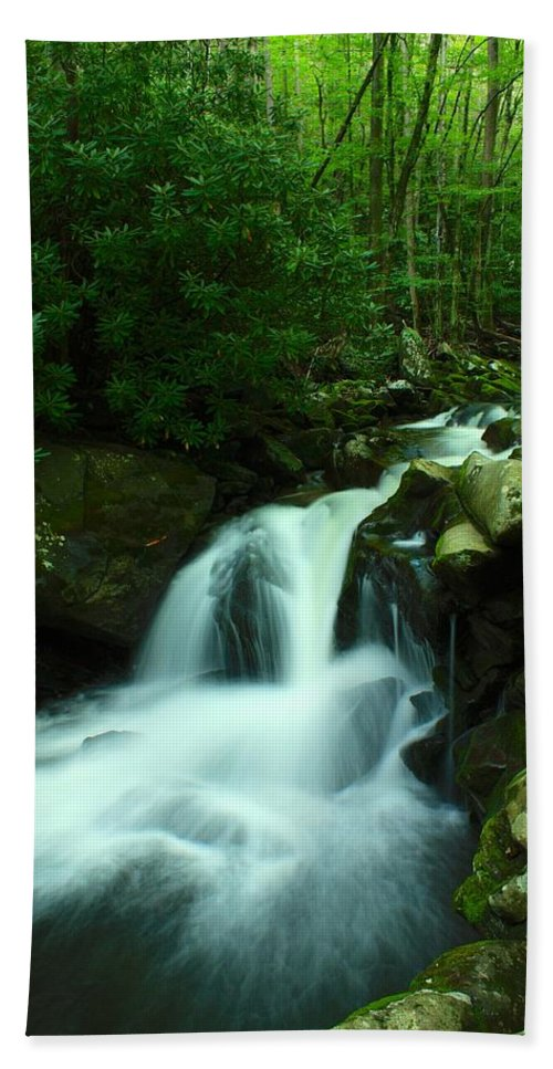Lynn Camp Prong Bath Sheet featuring the photograph Upper Lynn Camp Prong Cascades by Nunweiler Photography