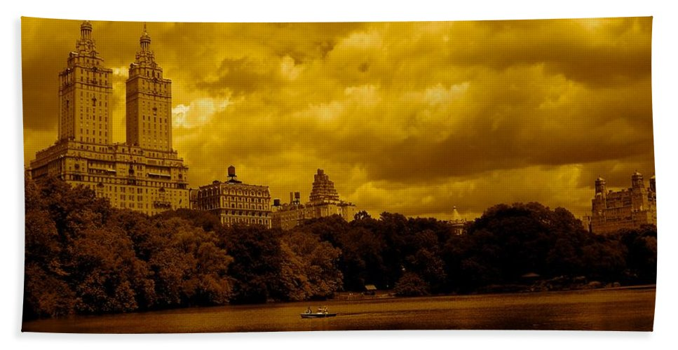 Iphone Cover Cases Hand Towel featuring the photograph Upper West Side And Central Park by Monique's Fine Art