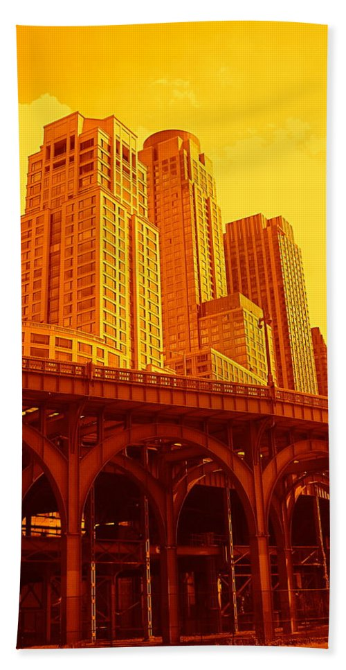 Manhattan Prints And Posters Bath Towel featuring the photograph Upper West Side And Hudson River Manhattan by Monique's Fine Art