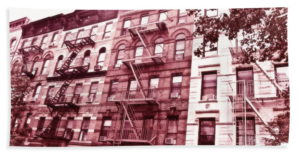 Upper West Side Hand Towel featuring the digital art Upper West Side by KJ DePace