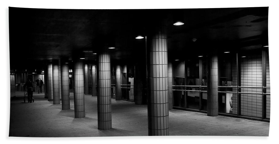 Festblues Hand Towel featuring the photograph Urban Silence.. by Nina Stavlund