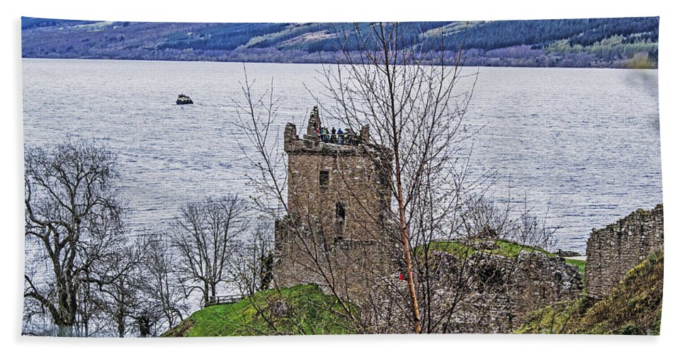 Travel Hand Towel featuring the photograph Urquhart Castle by Elvis Vaughn