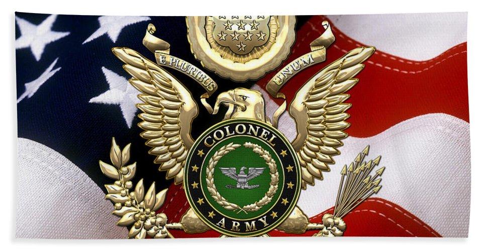 U S Army Colonel C O L Rank Insignia Over Gold Great Seal Eagle