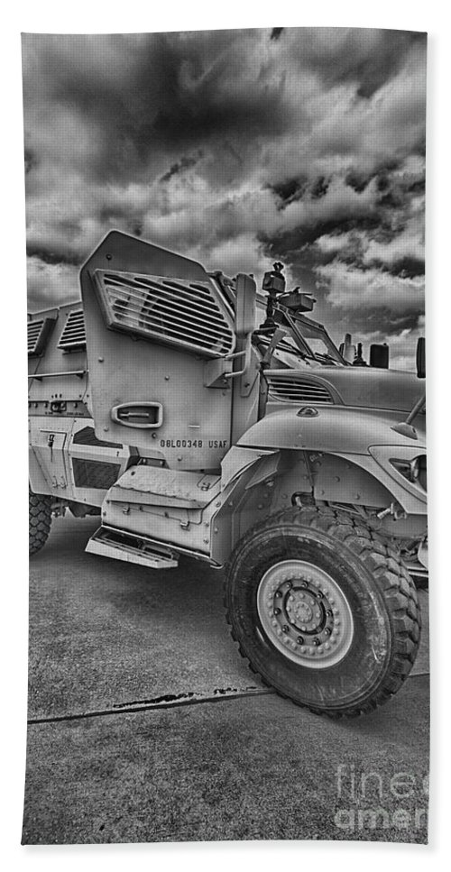 Us Army Troop Carrier Hand Towel featuring the photograph Us Army Troop Carrier by Douglas Barnard