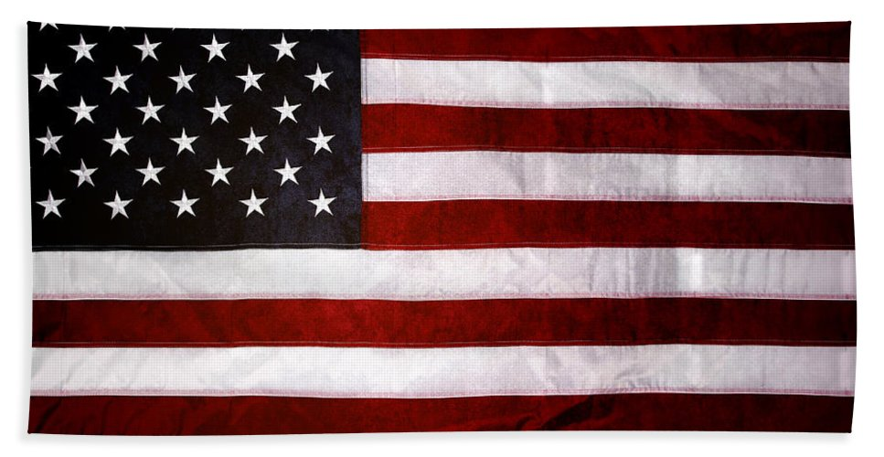 Flag Hand Towel featuring the photograph USA by Les Cunliffe
