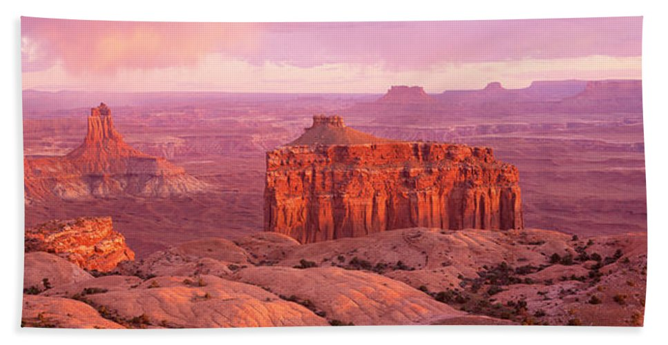 Photography Hand Towel featuring the photograph Usa, Utah, Canyonlands National Park by Panoramic Images