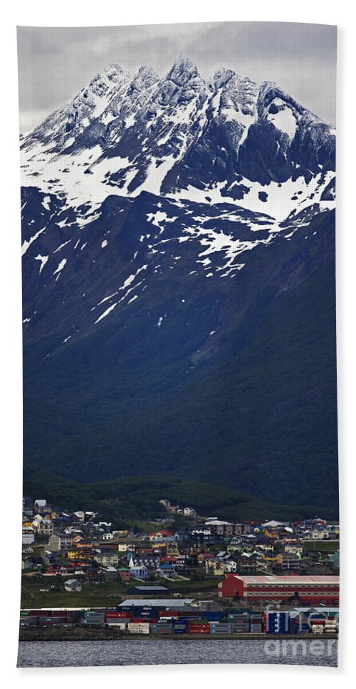 Festblues Hand Towel featuring the photograph Ushuaia.... by Nina Stavlund