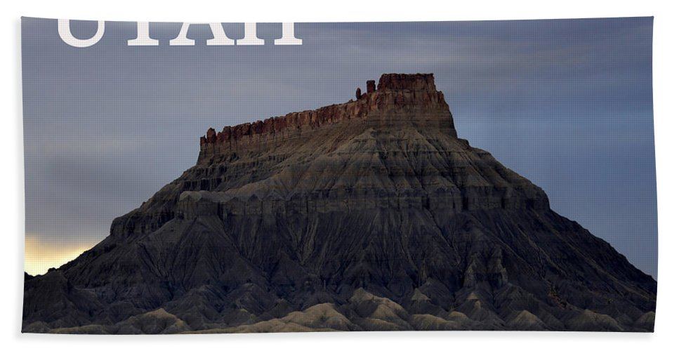 Utah Bath Sheet featuring the photograph Utah Landscape Factory Butte by David Lee Thompson