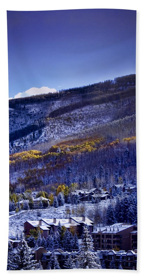 Vail Bath Sheet featuring the photograph Vail Sunrise by Ellen Heaverlo