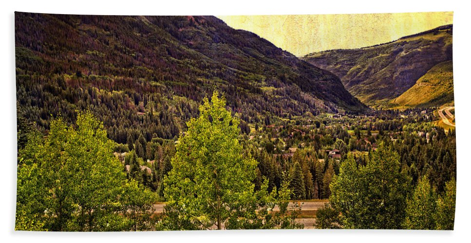 Vail Colorado Bath Sheet featuring the photograph Vail Vista 2 by Madeline Ellis