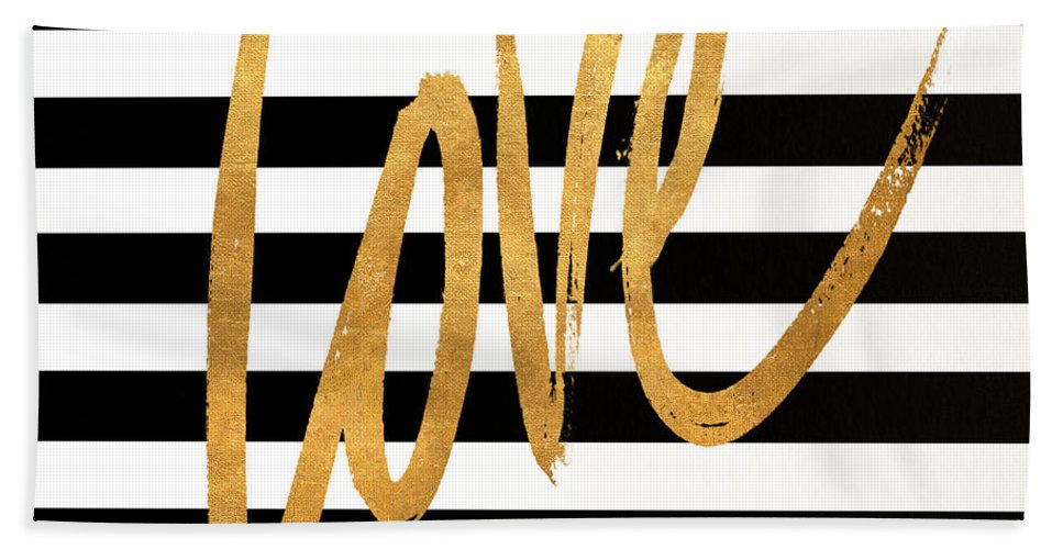 Valentines Bath Towel featuring the digital art Valentines Stripes Iv by South Social Graphics