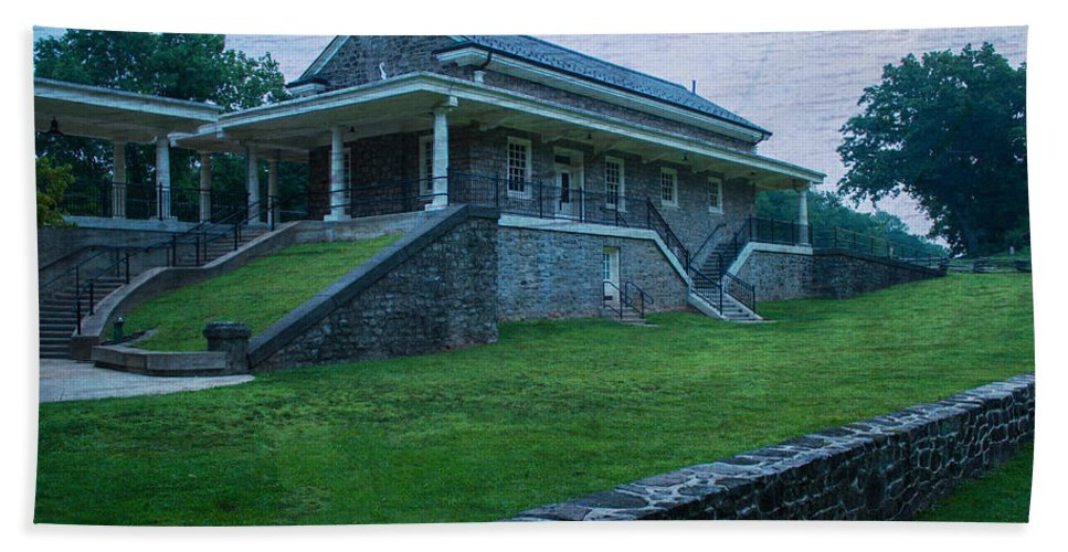 Valley Forge National Park Hand Towel featuring the photograph Valley Forge Station by Michael Porchik