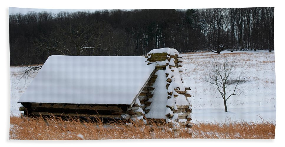 Valley Forge Hand Towel featuring the photograph Valley Forge Winter 10 by Terri Winkler