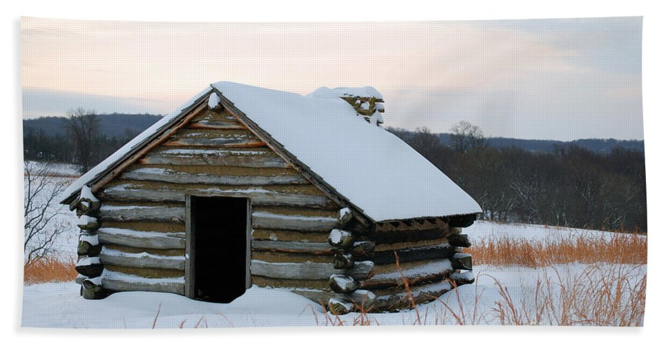 Valley Forge Bath Sheet featuring the photograph Valley Forge Winter 2 by Terri Winkler