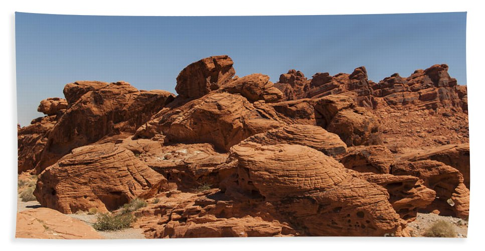 Nevada Hand Towel featuring the photograph Valley Of Fire 1 by Nancy L Marshall