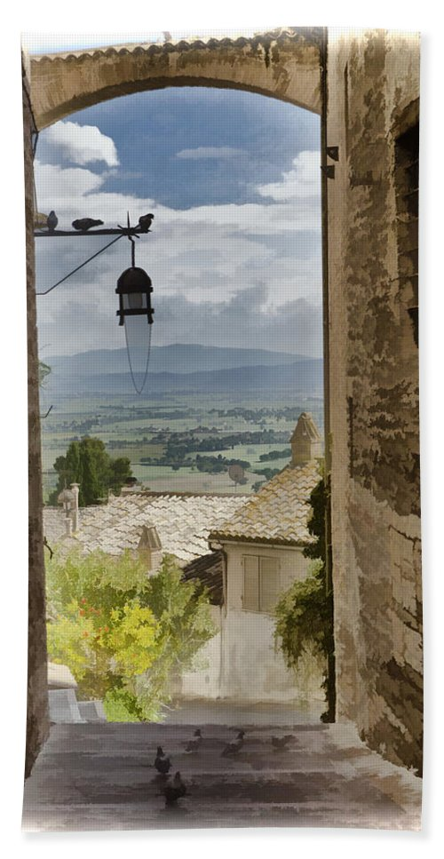 Italy Bath Sheet featuring the photograph Valley View - Assisi by Jon Berghoff