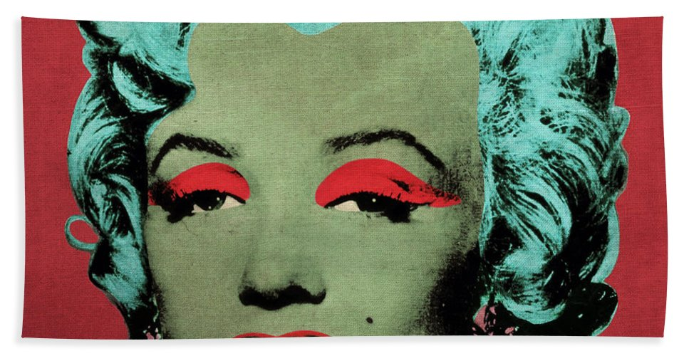 Pop Bath Sheet featuring the photograph Vampire Marilyn Variant 1 by Filippo B
