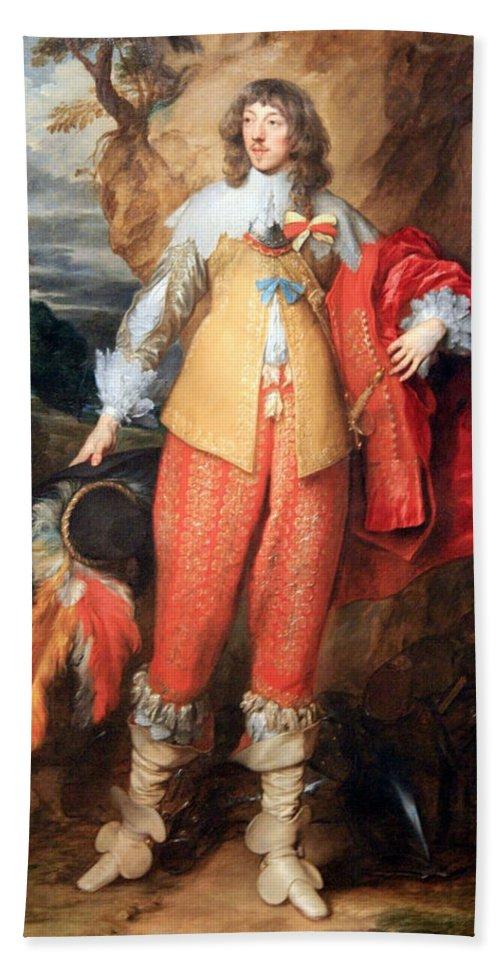 Henri Hand Towel featuring the photograph Van Dyck's Henri II De Lorraine by Cora Wandel