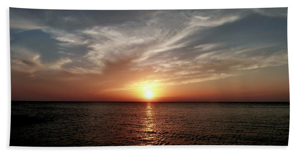 Color Bath Sheet featuring the photograph Vanilla Sky by Amar Sheow