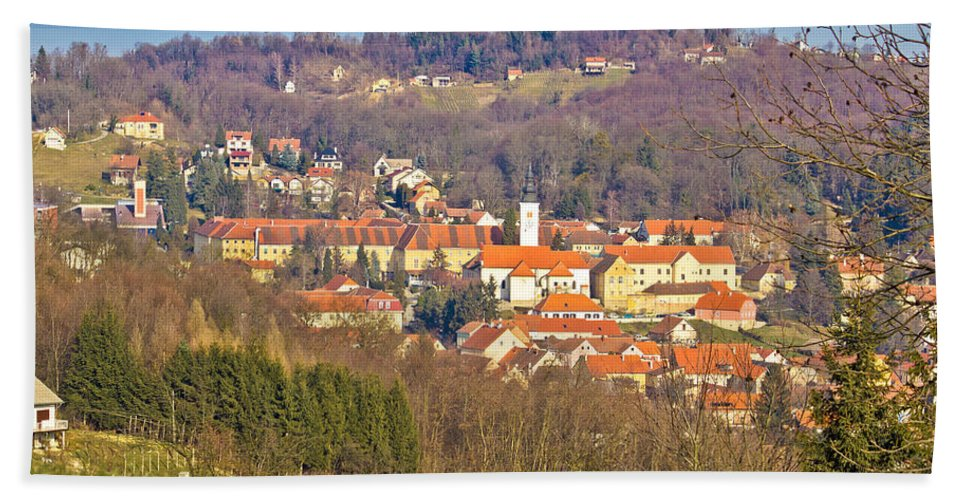 Croatia Hand Towel featuring the photograph Varazdinske Toplice - Thermal Springs Town by Brch Photography