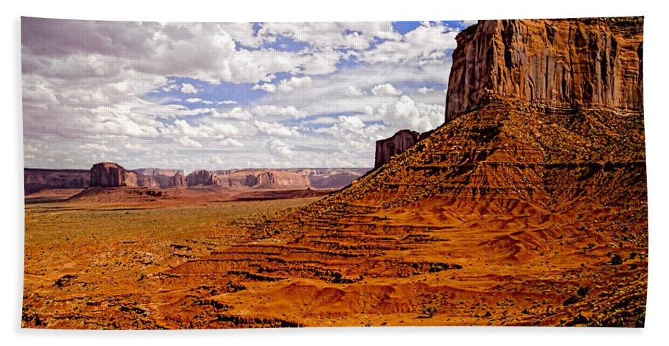 Landscape Hand Towel featuring the photograph Vast Desert - Monument Valley - Arizona by Jon Berghoff