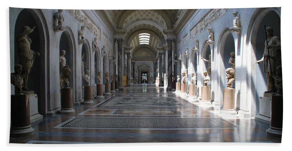 Vatican Hand Towel featuring the photograph Vatican Museum by Richard Booth