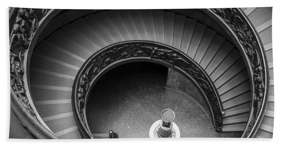 3scape Photos Hand Towel featuring the photograph Vatican Stairs by Adam Romanowicz