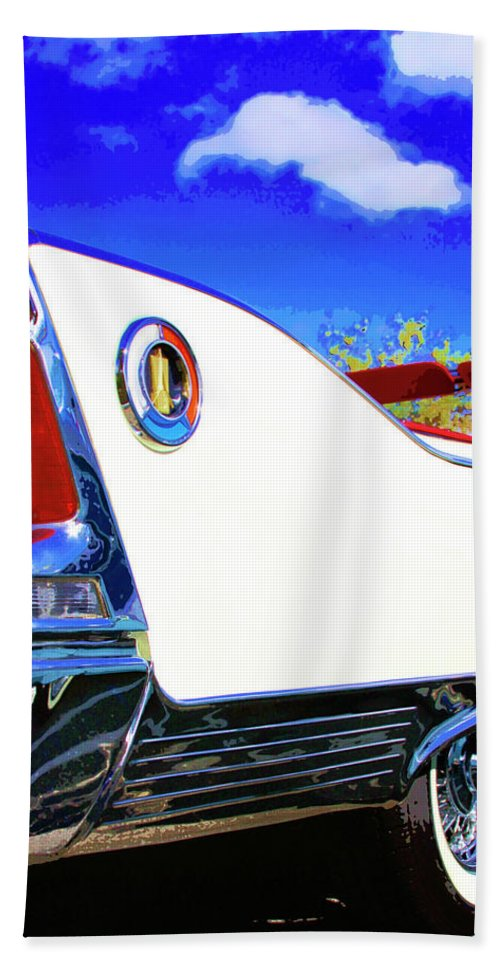Car Auction Hand Towel featuring the photograph Vehicle Launch Palm Springs by William Dey