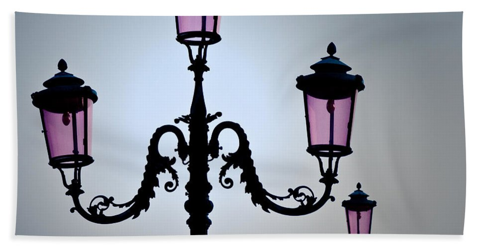 Venice Hand Towel featuring the photograph Venetian Lamps by Dave Bowman